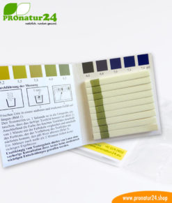 99 test strips for checking the pH value between 5.2 and 7.6