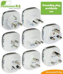 Grounding plugs for worldwide use