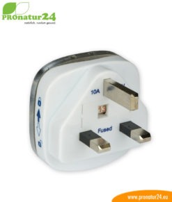 Individual grounding plugs by country and plug type