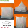 Canopy electrosmog PRO with silver tulle shielding fabric