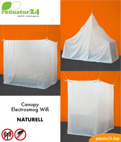 Canopy electrosmog WIFI with naturell shielding fabric