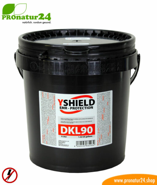 5-liter DKL90 dispersion glue by YSHIELD. Electrically conductive for LF electric fields.