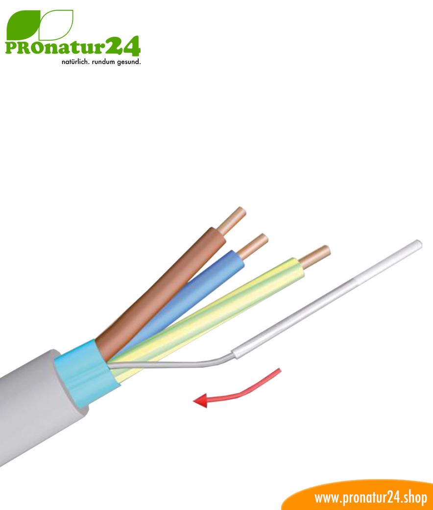 Insulating tube for the ground wire of the shielded electric cable ...
