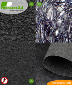 NCV95 shielding fleece with protection from electrosmog caused by LF electric fields. 80 dB screening attenuation.