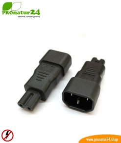 Adapter C13 cold appliance cable on two pole C7 plug